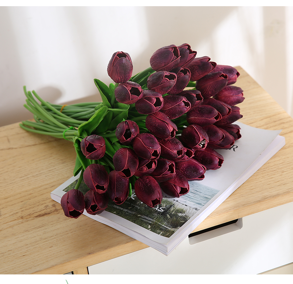 31 pieceslots artificial tulip flower real touch wedding flower 31 pieceslots artificial tulip flower real touch wedding flower bouquet artificial silk flowers for izmirmasajfo