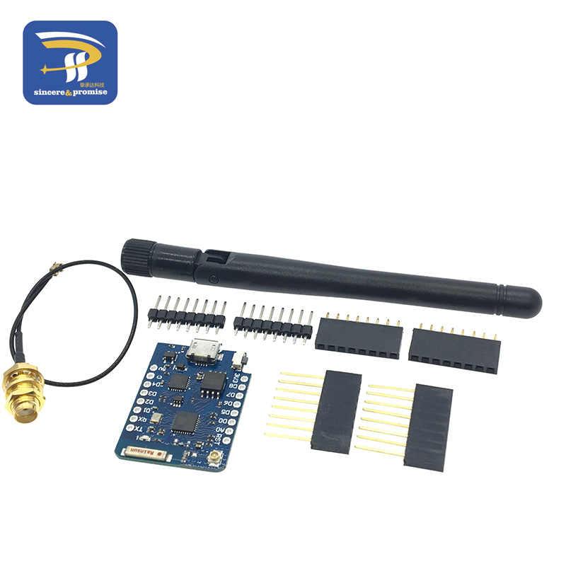 WEMOS D1 Mini Pro 16M Bytes External Antenna Connector NodeMCU Based ESP8266 ESP-8266EX CP2104 WIFI Development Board Micro USB