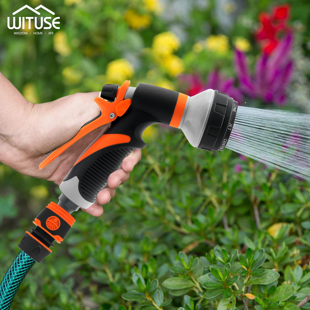 Garden Water Spray Lawn Sprinkler Car Wash Water Gun Hose Nozzles 4 7 8 Pattern High Pressure Power Washer For Garden Watering