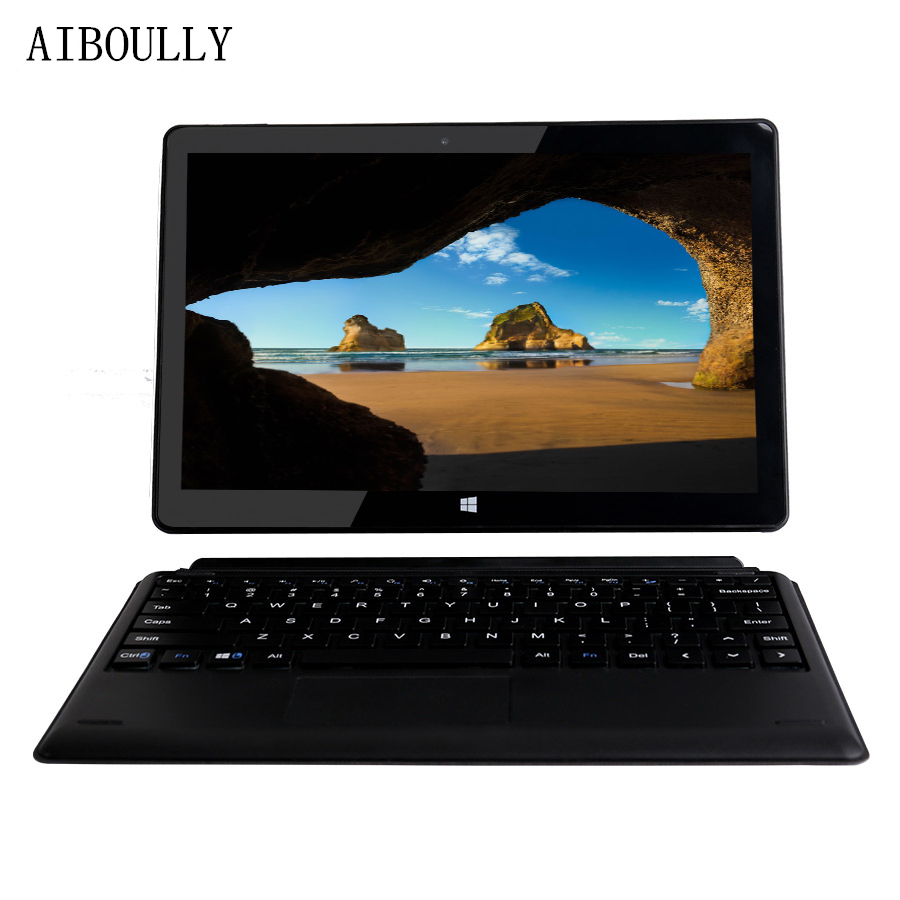 AIBOULLY 10.1 pouces Windows tablettes activé Android tablette pc Quad Core Z8350 Windows 10 & Android 4 GB Ram 64 GB Rom Wifi HDMI 10