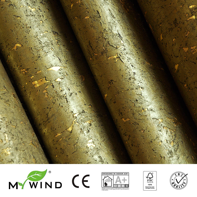 2019 MY WIND Gold Luxury Decoration 100 Natural Material Safety Innocuity 3D Wallpaper In Roll Decor European aristocracy in Wallpapers from Home Improvement