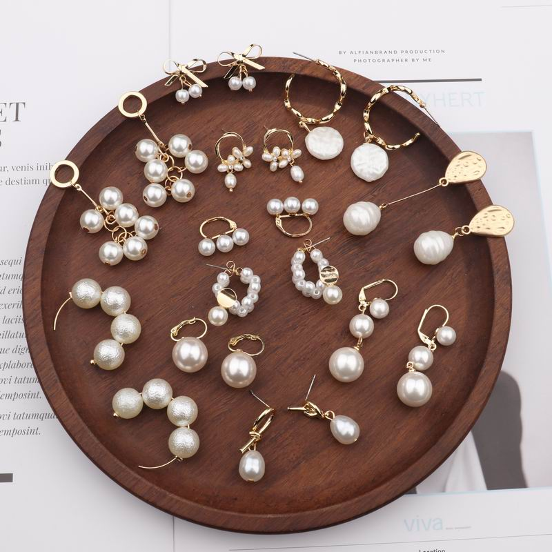 MENGJIQIAO 2018 New Trendy Many Styles Beaded Simulated Pearl Drop Earrings For Women Cute Bowknot Circle Pendientes Mujer Moda
