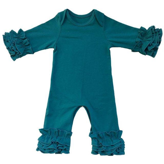 bc8976044398 Товар Fall winter Wholesale Baby Icing Ruffle leg Romper mustard ...