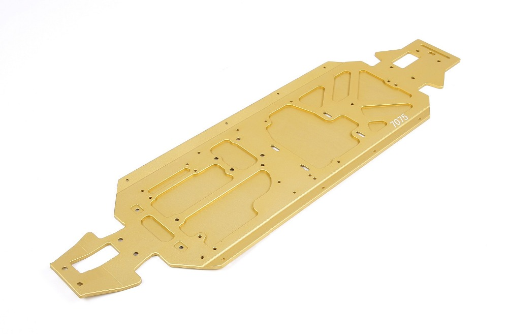 ROVAN LT CNC metal chassis plate Materials 7075 for 1/5 Losi 5ive T KING MOTOR X2 rc car parts rovan lt body shell split kit for 1 5 losi 5ive t king motor x2 rc car parts