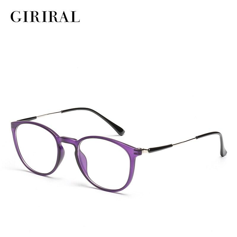 2018 Women TR90 spectacles frame round myopia transparent clear fashion optical designer retro glasses frame #2-YX0259