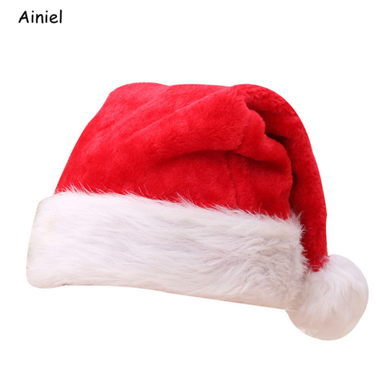 Christmas Hat Red Santa Claus Cap Kids Adult Christmas Cap Gift New Year Decorate women men Christmas Glowing Hats Children Cap