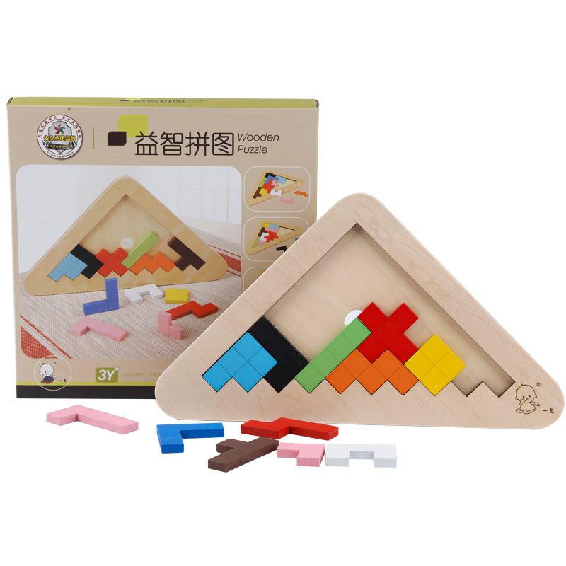 DIY Tangram jigsaw Tetris Puzzle Toys Triangle Wooden Building jigsaw Children Educational Toys Baby Learning Board Set Gifts barrett sniper rifle jigsaw puzzles educational toys gun model stainless steel diy assembly 3d metal puzzle for children