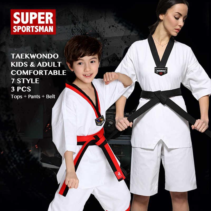 Conjunto De Ropa Deportiva Para Niños Y Adultos Uniforme De Karate Taekwondo Wtf Cinturón Judo Boxeo Productos De Culturismo Y Otros Deportes Aliexpress