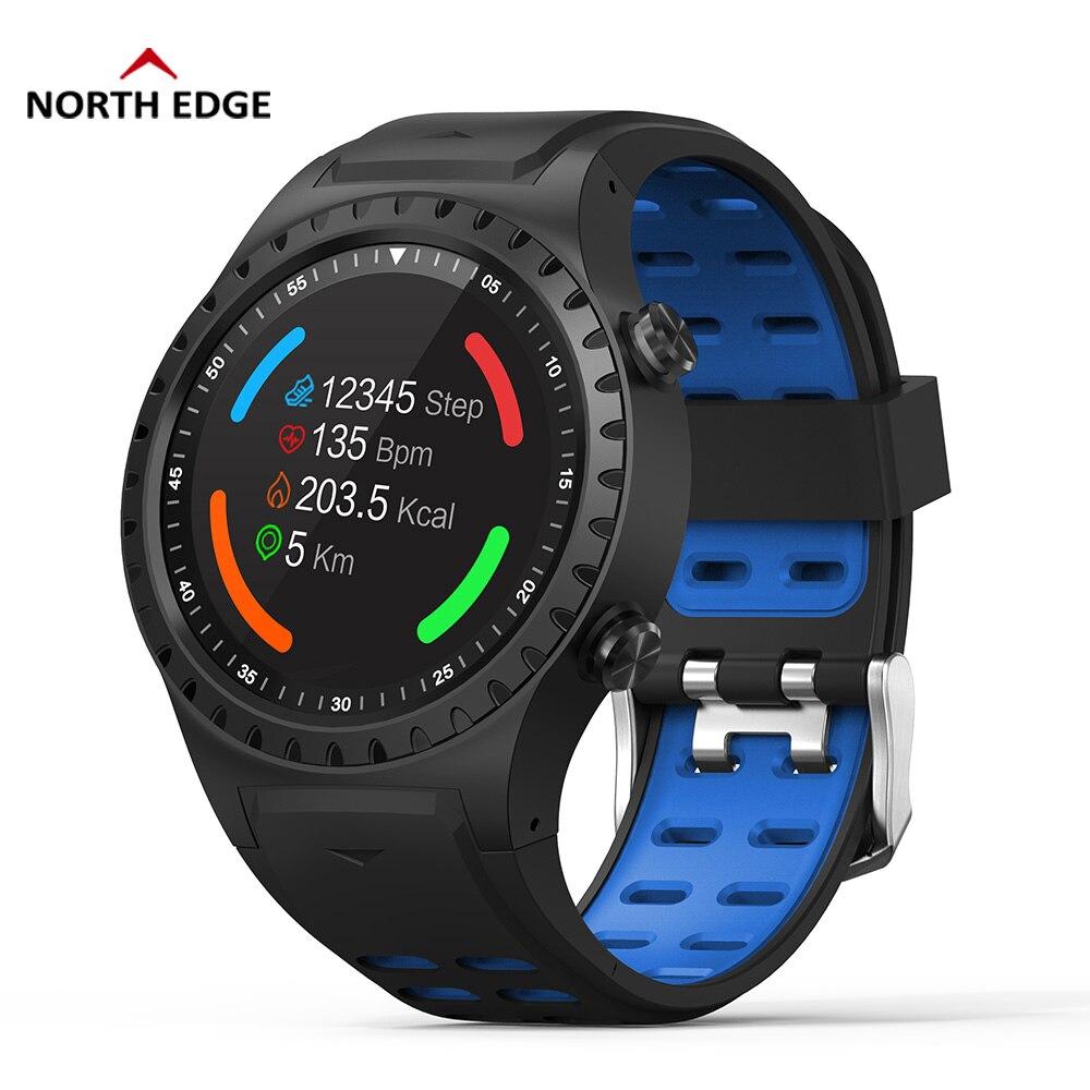 حافة الشمالية تشغيل ساعة ذكية GPS بلوتوث مكالمة البوصلة ساعة رقمية IP67 للماء متعددة الرياضة وضع علو القلب معدل-في ساعات رقمية من ساعات اليد على  مجموعة 1