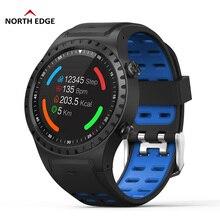 цена North Edge Running Smart Watch GPS Bluetooth Call Compass Digital Watch IP67 Waterproof Multiple Sport Mode Altitude Heart Rate онлайн в 2017 году