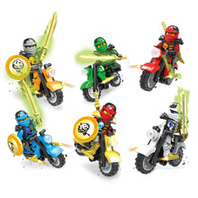 6pcs Hot Motorcycle Building Blocks Bricks Toys Compatible For Legoingly Ninjagoed Ninja For Kids Gifts