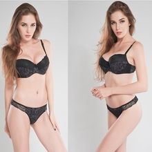 Intimates Set 2016 Women Sexy plus size Bra Sets Embroidered Lace Thong Bra And Panty Set C D E 34 36 38 40 Sexy Lingerie Set
