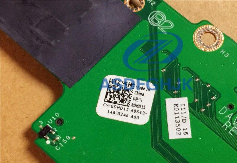 Dell DHD15 Vostro 1014 1015 I//O USB Firewire SD Card Reader Board CN-0DHD15