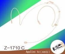 Frete Grátis Flesh Cor Mini XLR 3 Pinos Conector 3PIN TA3F HeadWorn Headset Microfone Para AKG microfones Sem Fio BodyPack Transmissor