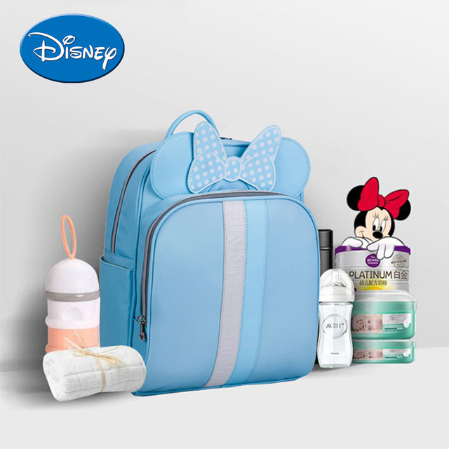 Disney Mummy Bag Shoulders Multi-function Fashion High-capacity Baby Backpack Out Waterproof  Baby Travel Backpack Diaper Bags