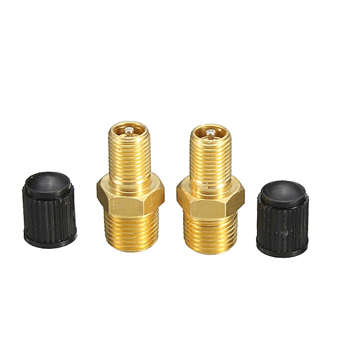 2 pces latão válvula de enchimento do tanque do compressor de ar 1/8 nnnpt niquelado schrader