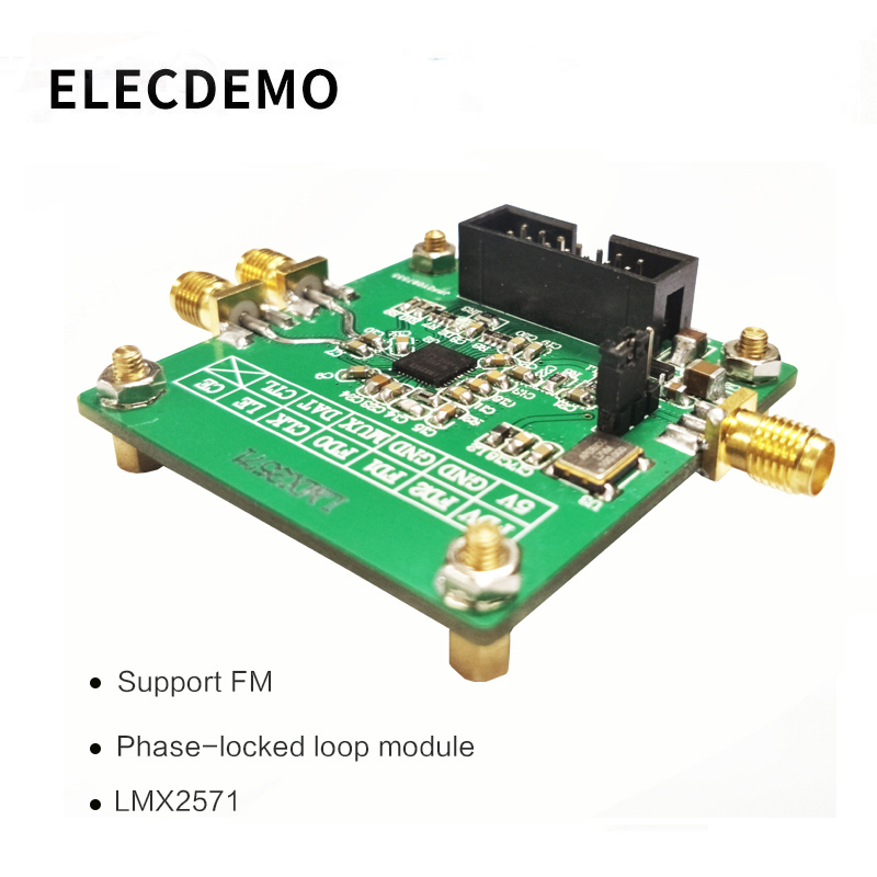 LMX2571 Module signal source RF source Phase locked loop module FM modulation 2018 TI electronic competition module-in Demo Board Accessories from Computer & Office