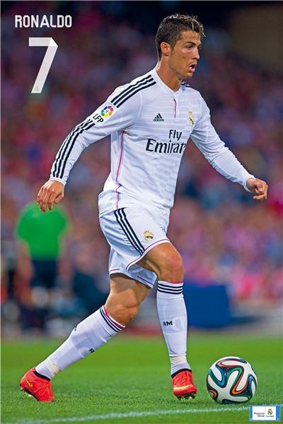 Cristiano Ronaldo Poster Football Madrid Posters Ronaldo Wall Sticker CR7 Wallpaper World Cup Stickers Soccer Canvas Art #2284#
