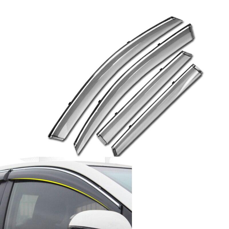 все цены на For KIA RIO K2 3 Hatchback Sedan 2016 2015 2014 2013 2012 Car Window Visor Door Rain Sun Shield Side Windows Auto Accessories онлайн