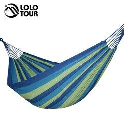 Amplie a rede dupla de algodão 2 pessoas hamac jardim balanço dormir hamak rede de dormir móveis lona hamaca