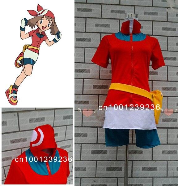 Pokémon poche monstres Haruka mai Cosplay Costume