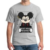 men tshirt Mickey print tees miki mouse t shirt New men t shirts funny dog mouse cartoon tshirt Couple t shirt Large casual MJ