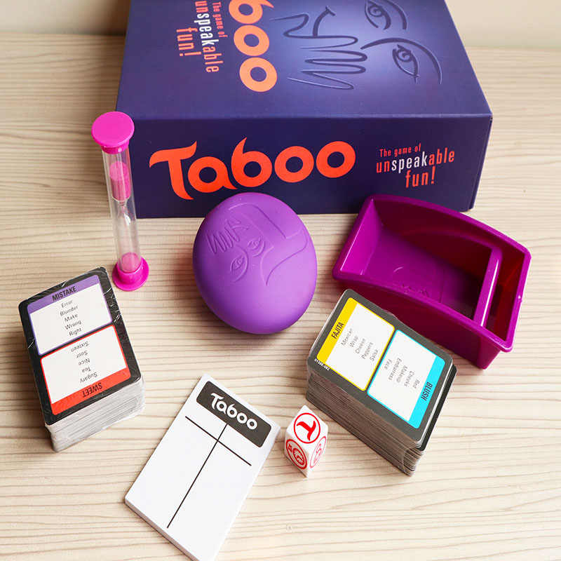 Classic fun European and American TABOO GAME get together party ...