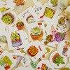 40 pz/lotto succulente mini autoadesivo di carta del pacchetto FAI DA TE decorazione del diario sticker album scrapbooking|Adesivi|Casa e giardino -