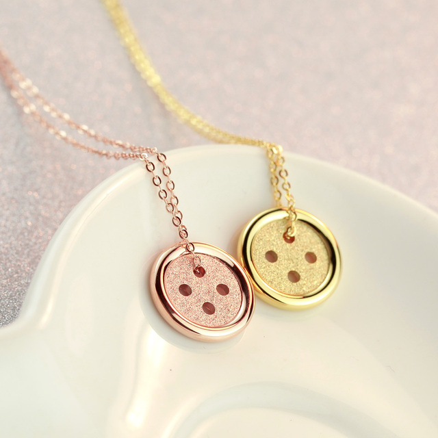 ashley gold jewels products lucky button pendant rose