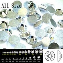 2058NoHF SS3-SS50 Visi dydžiai Crystal Non Hotfix Flatback Glitter Nagų Rhinestones Nagų priedai Nail Art Decoration Strass