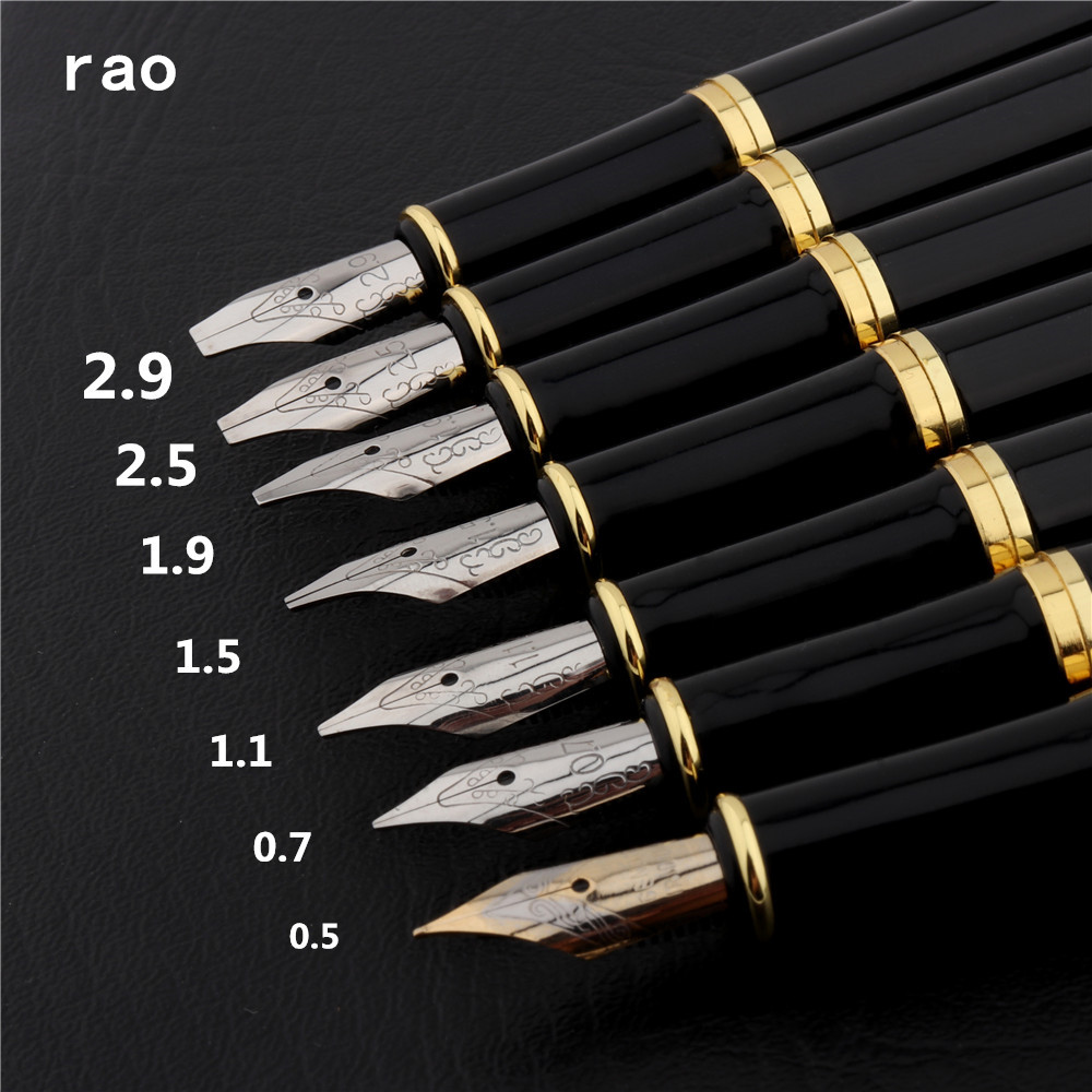 Luxury quality 389 Black 0.5/0.7/1.1/1.5/1.9/2.5/2.9mm English calligraphy Duckbill parallel Art Tibetan Arabic Fountain Pen