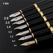Qualidade de luxo 389 preto 0.5/0.7/1.1/1.5/1.9/2.5/2.9/mm caligrafia inglês ducklei caneta fonte tibetana, arte paralelo