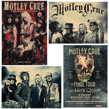 Motley Crue Vintage Retro rock band music Guitar Matte Kraft Paper Antique Poster Wall Sticker Home Decora(China)