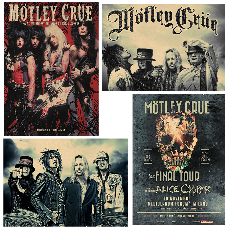 """3/"""" ou 5/"""" Motley Flood Band Music voiture autocollant Decal"""
