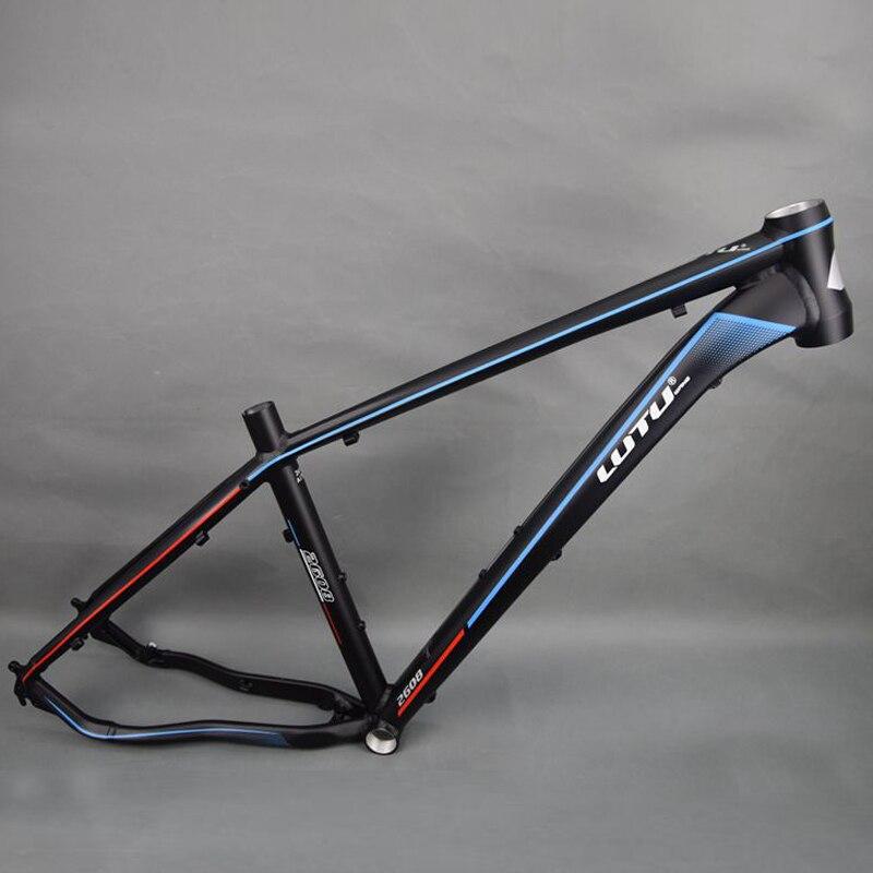 LUTU 2608 Bicicletas de Montanha Quadro 26er Liga de Alumínio Brilho/Matta Quadro Quadro Da Bicicleta 18 16 polegada polegada