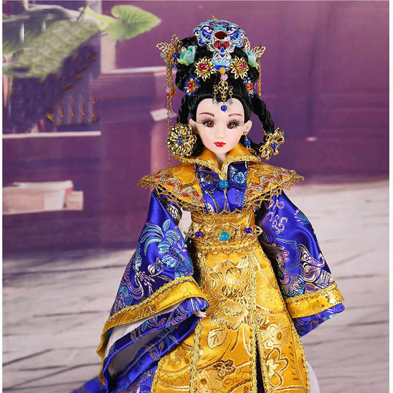 34cm Handmade Chinese Ming Dynasty Imperial Concubine <font><b>Bjd</b></font> <font><b>1/6</b></font> <font><b>Dolls</b></font> 14 Jointed Costume <font><b>Doll</b></font> Collection Girls Toys Birthday Gift image