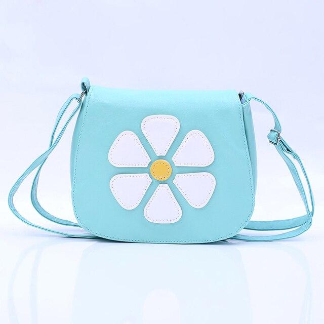 QZH Cartoon Little Girl Messenger Bags Flower Zipper Crossbody Book Bag For Girls Kids Mini Party