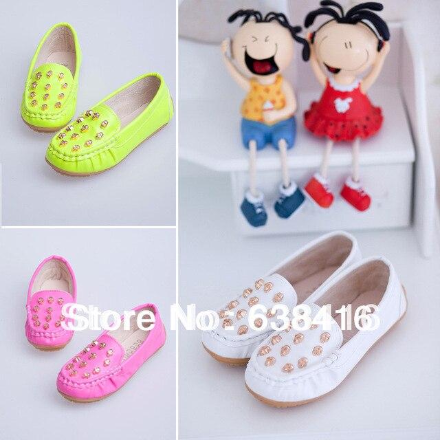 Весна осень дети в обувь корейский стиль мальчик кожа обувь свободного покроя дети девочки кожа лежа обувь