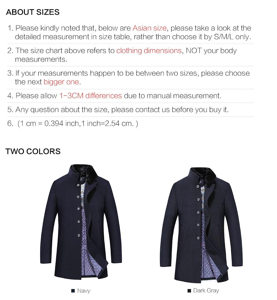 8502a309b7f AIERMA 2016 new men long wool coat mink fur collar brand clothing ...