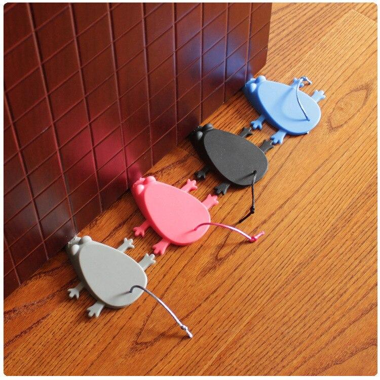 Cartoon Mouse Seguridad Door Lock Soft Silica Gel Stopper Jammer Cute Toy Finger Pinch Guard Door Stopper Baby Top Safe Doorways