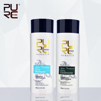 PURC 100 ml codzienne szampon i codzienne odżywka do po keratyny traktowanie codziennego użytku make włosów wygładzanie i połysk włosów zestaw do pielęgnacji tanie i dobre opinie PURC-SC001 1000 Natural Leczenie włosów i skóry głowy Daily shampoo and daily conditioner for keratin shampoo and conditioner