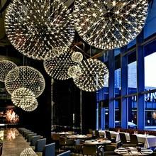 L24-Modern Rainmond Firework Pendant Lights Bar Light LED Stainless Steel Ball Lamp for Bar/Restaurant Lamparas Lustre