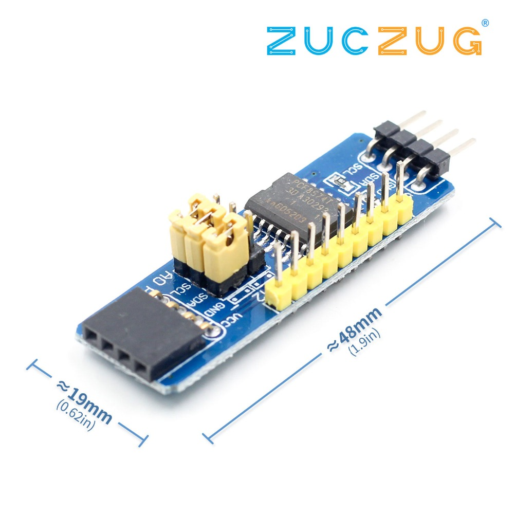 Pcf8574 I2c Interface 8 Bit Io Mcu Expansion Board I O Expander 10pcs Ams1117 33v 1a Voltage Regulator Electrodragon Bus Evaluation Development Module
