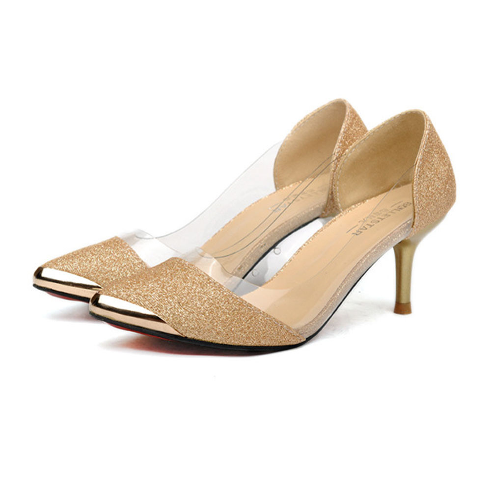100% brand new and high quality Fashion Women Casual Pointed Toe Pumps High Heels Wedding Shoes Pumps