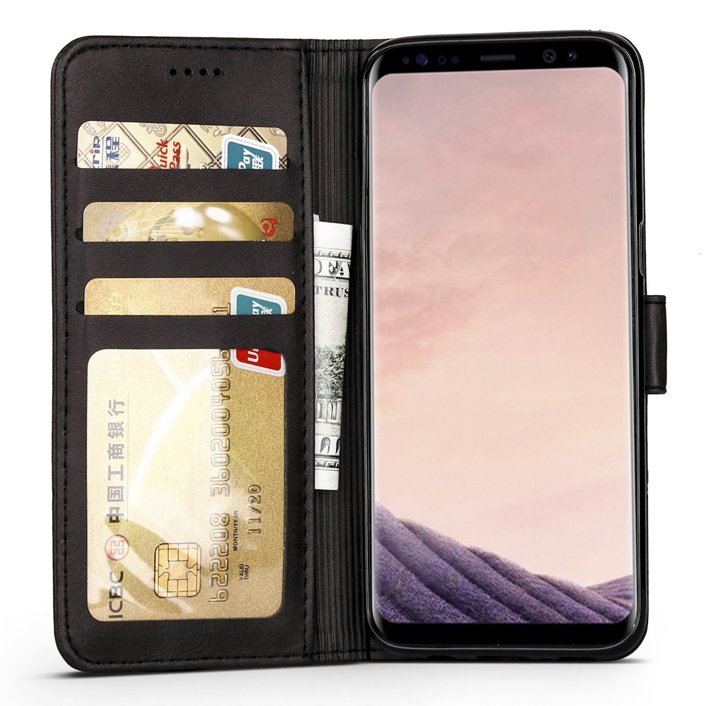 Leather Flip Samsung Galaxy S8 S8 Plus Shockproof Wallet Cover Cases For Galaxy S8 Card Holder For Samsung S8