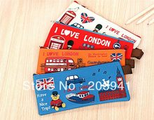 1pcs/lot New vintage I love london series Pencil bag pen Pocket small pouch Storage Bags Fashion Gift(China)