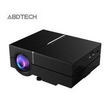 Abdtech 800×480 T50 1200 Lúmenes Proyector LCD para el Teatro Casero Video HDMI USB Full HD 1080 P Hogar Theater LED Proyector
