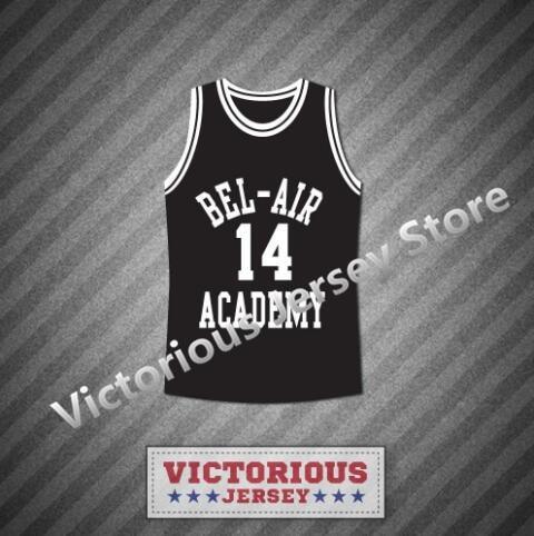 Minanser The Fresh Prince Of Bel-air Carlton Banks Bel-air Academy Basketball Jersey Men Basketball