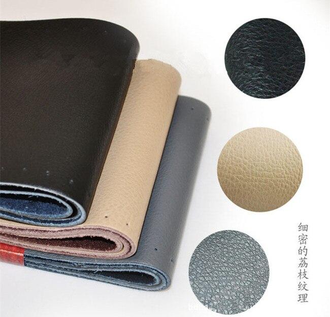1 unids negro gris beige marrón DIY Cuero auténtico zurriago cubierta del  volante con Agujas y Hilos rojo c49114b413c