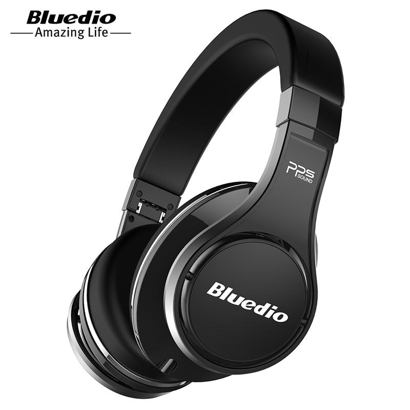 Bluedio U (UFO) de gama alta auricular Bluetooth patentado 8 Drivers/3D sonido/aleación de aluminio/HiFi Over-Ear inalámbrico auriculares